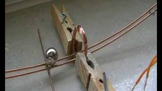 Ball magnet on copper rail