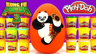 getlinkyoutube.com-Kung Fu Panda 3 Giant Play Doh Surprise Egg with Batman Minecraft Disney Yo Kai Watch The Toy Bunker