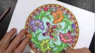 getlinkyoutube.com-Coloring Book Art ; Mandala 1