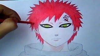 "getlinkyoutube.com-Como Desenhar Gaara (Naruto Shippuden) #2 ""Desenha fácil"""