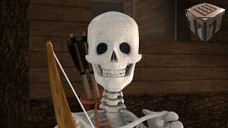 getlinkyoutube.com-Skeleton Battle! - Realistic Styled Minecraft Animation (Ep. 7)