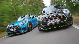 MG Performance-Mini JCW vs. Dynamic Automotive-Mini JCW: Test in Hockenheim | Kleiner Kurs