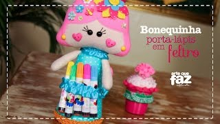 getlinkyoutube.com-DIY - Bonequinha Porta-Lápis (Alessandra Mattos)