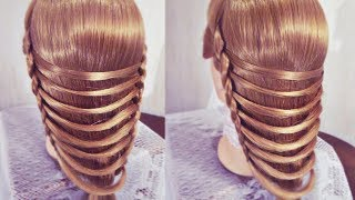 "getlinkyoutube.com-Причёска - Техника плетения - ""Мостик"" - Hairstyles by REM"