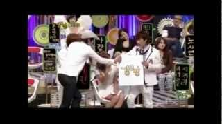 getlinkyoutube.com-Yoona(SNSD) & Eunhyuk(Super Junior) Moments - StrongHeart Episode 4