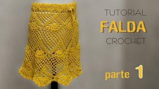 Falda tejida a crochet, varios talles (1 de 2) - Tutorial paso a paso