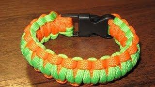 getlinkyoutube.com-Как связать Браслет выживания из Паракорда (Кобра) - Easy Paracord Bracelet Instructions