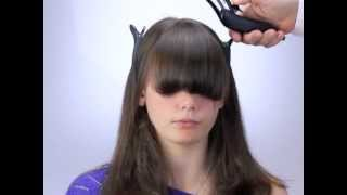 getlinkyoutube.com-How to cut bangs and fringes the new way with Freestyla & Wahl Clippers