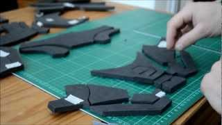 getlinkyoutube.com-3 - (Gluing the foam) Foam Pepakura Iron Man Suit/Armor explanation