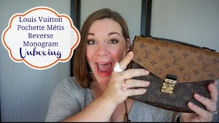 getlinkyoutube.com-Louis Vuitton Limited Edition 2016~ Pochette Metis Reverse Monogram