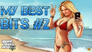 getlinkyoutube.com-Grand Theft Auto V | FUNNY & BEST BITS MONTAGE COMPILATION #2 | Funniest Moments