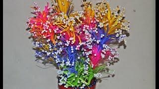 getlinkyoutube.com-DIY Beautiful Paper Flower Vase - Very Easy - Home Decor - Tutorial