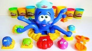 getlinkyoutube.com-Play-Doh Octopus Ocean Playset Unboxing