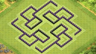 Clash of Clans - TH8 Trophy / Defense Base.