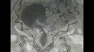 getlinkyoutube.com-تعلمي خياطة الرندة بالعقيق - طريقة فتحة العنق بالعقيق - randa marocaine