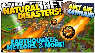 getlinkyoutube.com-Minecraft | NATURAL DISASTERS | Meteors, Poison, More! | Only One Command (Minecraft Vanilla Mod)
