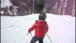 getlinkyoutube.com-4 year old Downhill Skier 360 spins on snow