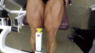 getlinkyoutube.com-Aleesha Young training legs