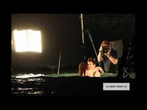 BELLA AND EDWARD EMBRACING!!! BREAKIND DAWN HONEYMOON SCENE BEHIND THE SCENES PHOTOS