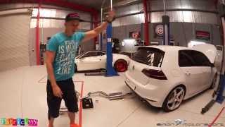 getlinkyoutube.com-VW Golf R Mk7 mit IPE Klappenauspuff ab Downpipe - Simon MotorSport - Folge 49