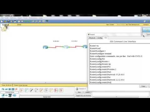 RIPv2 in Cisco's packet tracer