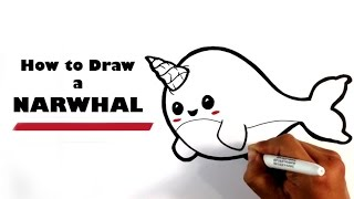 getlinkyoutube.com-How to Draw a Narwhal - Chibi - Easy Pictures to Draw