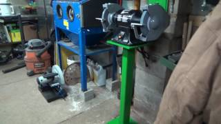 Mounting the new bench grinder and custom stand