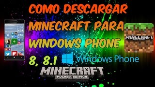 getlinkyoutube.com-Como descargar minecraft PE para windows phone 8, 8.1 | 2016 | ultima version