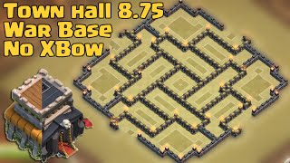 getlinkyoutube.com-Clash of clans - Town Hall 8.75 War Base [TH9 No Xbow] with air sweeper 2015