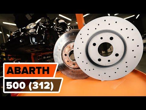 Как заменить передние тормозные диски наFIAT 500 ABARTH (312)(ВИДЕОУРОК AUTODOC)