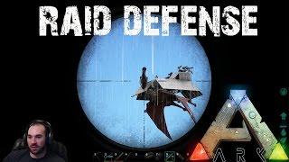 getlinkyoutube.com-ARK Survival Evolved - Epic Raid Defense with Turret Quetzals! E30