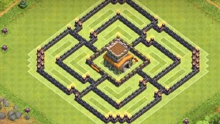 "getlinkyoutube.com-Clash of Clans - ""NEW"" Town Hall 8 (TH8) Clan War/Trophy Base With Air Sweeper Speed Build"