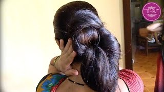 Sensual Bun Stylings by ILHW Rapunzel with her Thigh Length Silky Mane - Part-2