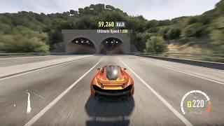 getlinkyoutube.com-Forza Horizon 2 - 2013 McLaren P1 - Top Speed Run (852,030 skill combo at end)