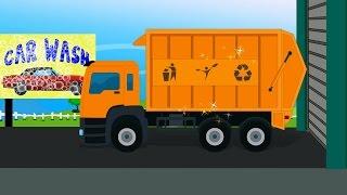 getlinkyoutube.com-Garbage Truck   Car Wash