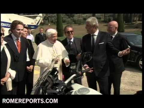 Pope receives two Ducati motorbikes