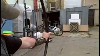 getlinkyoutube.com-How to Make a 60 lb PVC longbow for less than $10