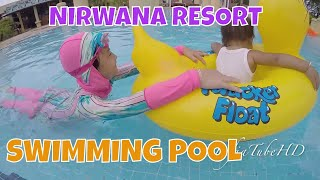 getlinkyoutube.com-Funny baby swimming in pool - Baby pool inflatable duck Lifeguard boat float quaker @LifiaTubeHD
