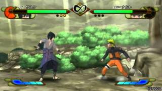 getlinkyoutube.com-Naruto Shippuden Gekitou Ninja Taisen Special - Sasuke vs Naruto【HQ】