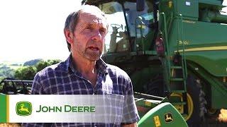John Deere T560i HillMaster Combine Testimonial Video - John Moss, Yealmpton