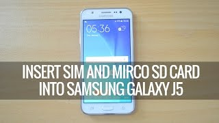 getlinkyoutube.com-How to Insert SIM card and SD Card into Samsung Galaxy J5