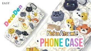 getlinkyoutube.com-DIY Phone Case!! Adorable Neko Atsume DecoDen DIY