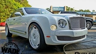 "getlinkyoutube.com-Bentley Mulsanne on  24"" Diamond encrusted Forgaitos by Butler Tires & Wheels"