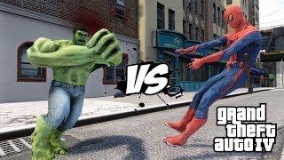getlinkyoutube.com-SPIDERMAN VS THE INCREDIBLE HULK - EPIC BATTLE - GTA IV