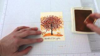 getlinkyoutube.com-Creating a Fall Scene with Stampin' Up!'s Sheltering Tree Stamp Set