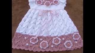getlinkyoutube.com-vestiditos para bebe tejidos a crochet parte 3 imagenes