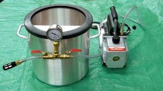 getlinkyoutube.com-Vacuum Chamber and Pump - Vacuum Infusion