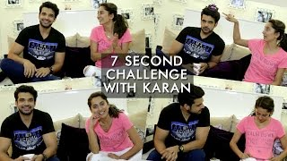 getlinkyoutube.com-Karan Kundra And Anusha Dandekar's 7 Second Challenge | Anusha Dandekar