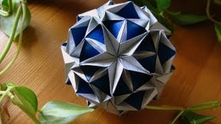 getlinkyoutube.com-Origami ❆ Snow Star ❆ Kusudama