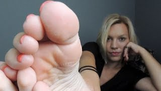 getlinkyoutube.com-Stacey's FOOT FETISH show  - her sexy feet soles and toes are getting dangerous